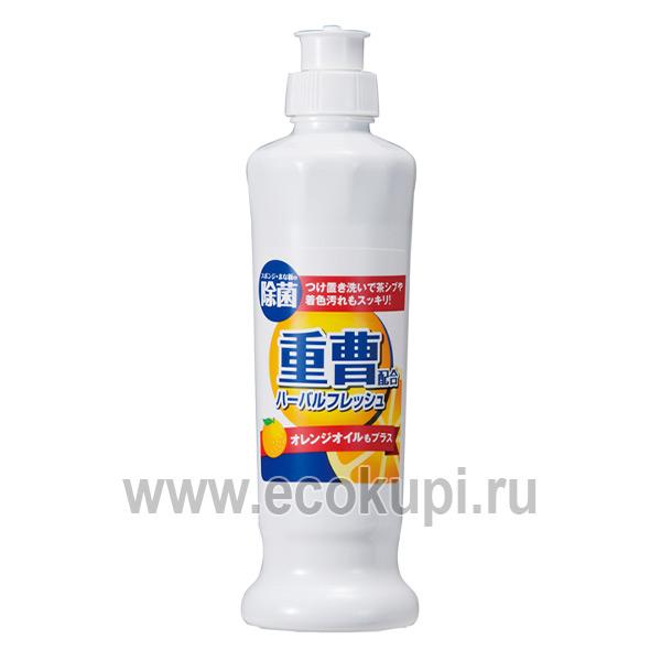 японское концентрированное средство для мытья посуды овощей и фруктов с апельсиновым маслом MITSUEI купитьжидкость чистая посуда выгодно доставка по России