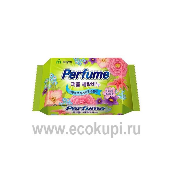 Корейское ароматизированное хозяйственное мыло с антибактериальным комплексом MUKUNGHWA Perfume Cleansing Soap, купить стиральный порошок lion выгодная цена