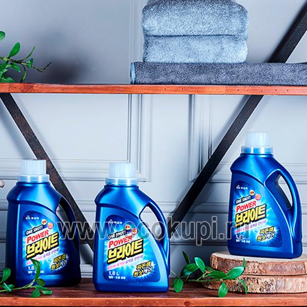 Корейское жидкое средство для стирки с ферментами Mukunghwa One Shot Power Bright Liquid Detergent купить недорогосредства ухода за одеждой оптом и розницу