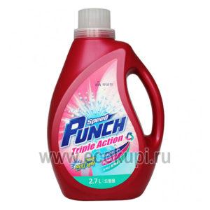 Корейское жидкое средство для стирки глубокоочищающее быстрого действия Ударная сила Mukunghwa Speed Punch Triple Action, купить недорого средства стирки