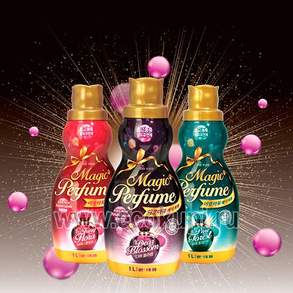 Корейский кондиционер-ополаскиватель для белья и одежды с богатым ароматом персика и розы Mukunghwa Aroma Viu Magic Perfume Softner Shiny Flora недорого