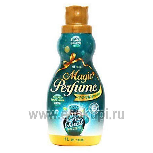 Корейский кондиционер-ополаскиватель для белья и одежды с кристальным ароматом летнего леса Mukunghwa Aroma Viu Magic Perfume Softner Pure Forest выгодно