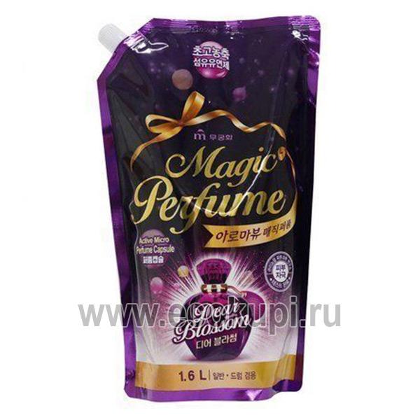 Корейский кондиционер-ополаскиватель для белья и одежды с элегантным ароматом белых цветов Mukunghwa Aroma Viu Magic Perfume Softner Dear Blossom доставка