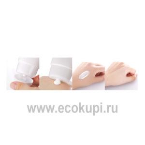 Корейский осветляющий крем для лица с экстрактом лотоса PETITFEE Snow Lotus White, выгодно и недорого купить минеральный крем пудра с доставкой по России
