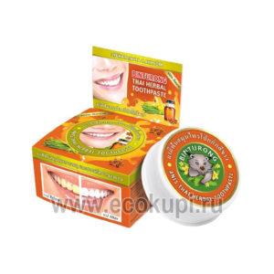 выгодно купить зубная паста отбеливающая с анисом BINTURONG Anis Thai Herbal японская тайская корейская зубные паста интернет магазин Экокупи