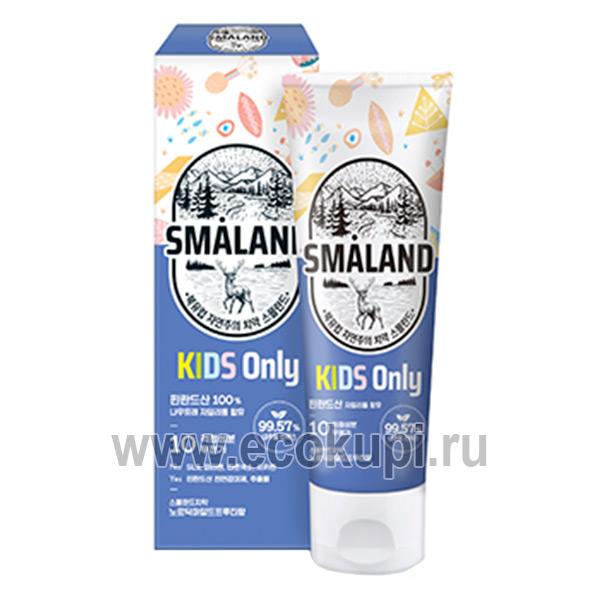 Корейская детская зубная паста фруктовая Kerasys Smaland Nordic Mild Fruity Kids, магазин товаров из Японии и Кореи, купить зубная паста детская недорого