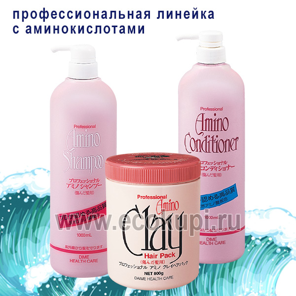 купить японский профессиональный шампунь на основе аминокислот для повреждённых волос Dime Professional Amino Shampoo, косметику для волос