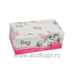 Салфетки бумажные двухслойные Taka Home Geometria купить корейскую бытовую химию доставка заказа курьером самовывоз ПВЗ Москва Петербург