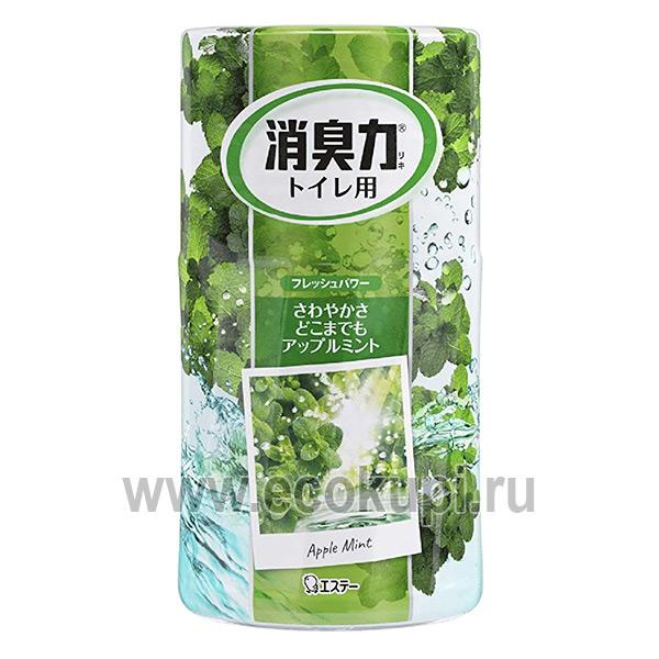 Жидкий дезодорант – ароматизатор для туалета c ароматом яблочная мята ST CORPORATION Shoushuuriki гелевые освежители изЯпонии Кореикупить