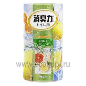 Жидкий дезодорант – ароматизатор для туалета c ароматом грейпфрут Shoushuuriki купить освежитель воздуха антитабак магазин товары для дома
