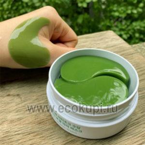 Корейские гидрогелевые патчи для глаз с экстрактом артишока Artichoke Soothing Hydrogel Eye Patch купить аппликатор для коррекции макияжа