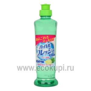 японское концентрированное средство для мытья посуды овощей и фруктов с ароматом лайма MITSUEI Green Lime, купитьжидкостьдля посуды экономного расхода