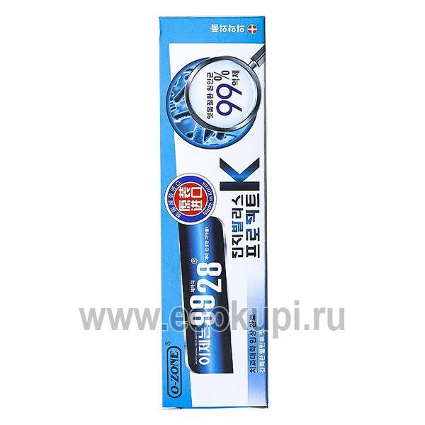 Корейская зубная паста антибактериальная O-Zone Antibacterial Toothpaste купить корейские зубные пасты описание отзывы доставка самовывоз