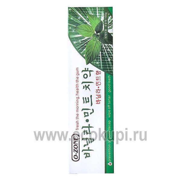 Корейская зубная паста профилактическая мята и ваниль O-Zone Mint & Vanilla Toothpaste купить зубная паста охлаждающая мята доставка почтой