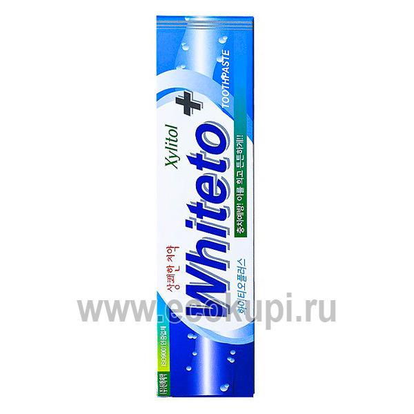 Корейская зубная паста отбеливание O-Zone White TO Plus Toothpaste купить средства гигиены полости рта для всей семьи интернет магазин Экокупи