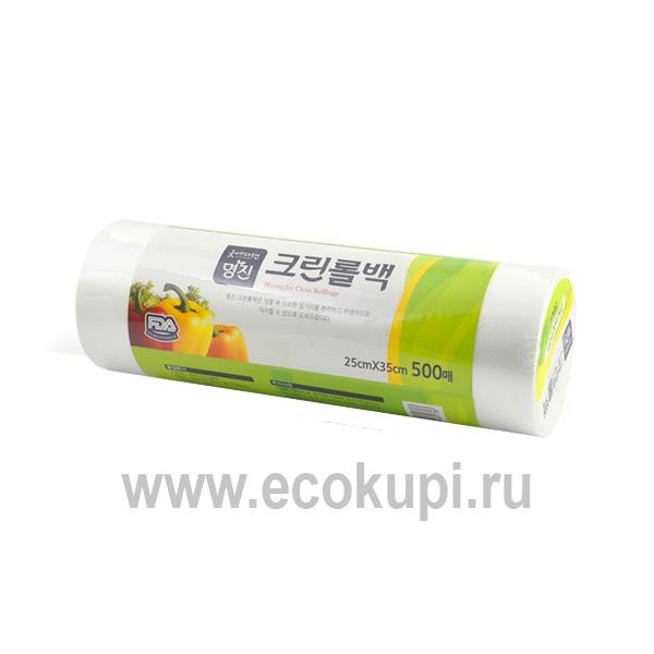 Корейские пакеты полиэтиленовые пищевые Myungjin Bags Type недорого купитьпищевые с двойной застежкой – зиппером пакеты интернет магазин