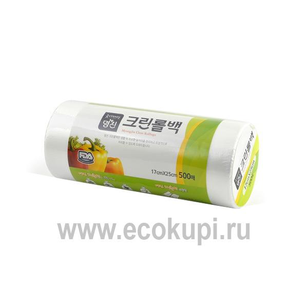 Корейские пакеты полиэтиленовые пищевые Myungjin Bags Type выгодно и недорого купить пищевые пакеты доставка заказа курьером и самовывоз ПВЗ