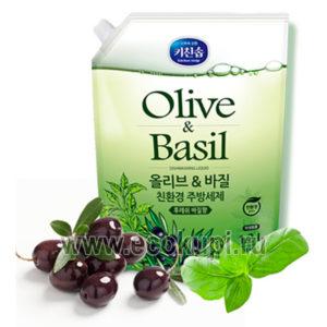 Корейская жидкость для мытья посуды с ароматом базилика и душистых трав Mukunghwa купить корейские и японские товары детям интернет магазин