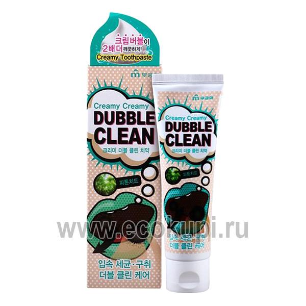 Корейская зубная паста кремовая с очищающими пузырьками и фитонцидами Mukunghwa интернет магазин Экокупи купить зубная паста жасмин и мята