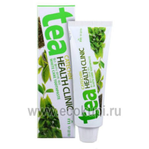 Корейская зубная паста отбеливающая с экстрактом зеленого чая Mukunghwa Tea Catechin Health Clinic купить зубную пасту свежее дыхание цитрус