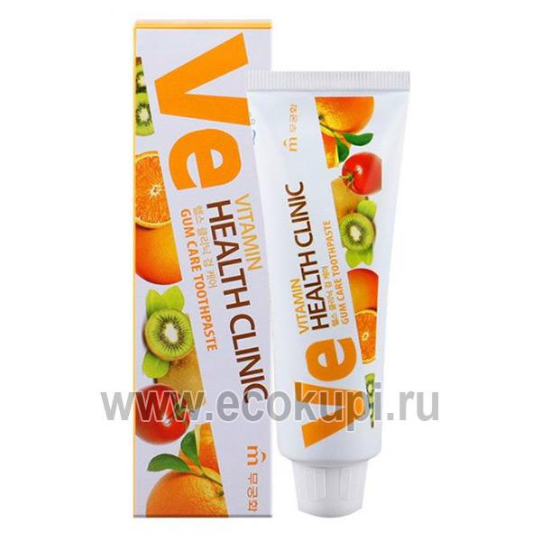 Корейская зубная паста с витаминами для профилактики заболеваний десен Mukunghwa Vitamin Health Clinic купить товары изКореивМоскве