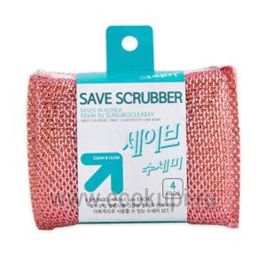 Корейский скруббер для мытья посуды SungboCleamy Save Scrubber купить средство для посуды зелёный чай хозяйственные товары Кореи Японии Китая