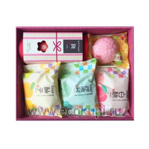 Японский подарочный набор туалетного мыла Цветы и Травы MASTER SOAP Wagasane Soap Set купитьнабориз салфеток для дома интернет магазин