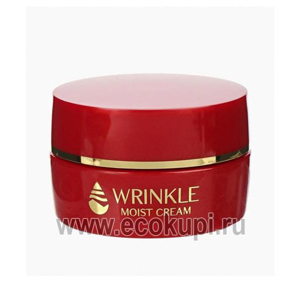 Японский лифтинг - крем для области глаз и губ с церамидами Meishoku Wrinkle Cream купить базу под макияж антивозрастной уход за кожей лица