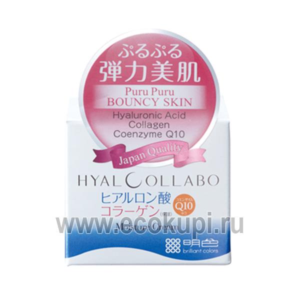 Японский глубокоувлажняющий крем с наноколлагеном и наногиалуроновой кислотой Meishoku Hyalcollabo Cream купить дневной матирующий крем-гель