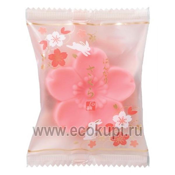Японское косметическое туалетное мыло Цветок ярко-розовое MASTER SOAP купить мужской набор по уходу за кожей лица интернет магазин Ecokupi