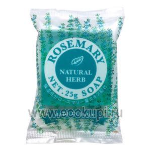 Японское косметическое туалетное мыло Розмарин MASTER SOAP купитьнабор из салфеток для кухни и посуды в подарок магазин Экокупи доставка