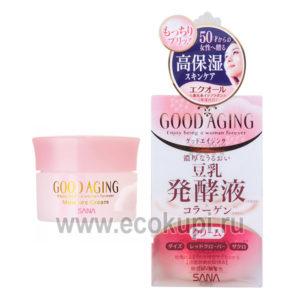 Японский увлажняющий и подтягивающий крем для зрелой кожи SANA Good Aging Cream купить увлажняющую косметику из Японии описание отзывы акции