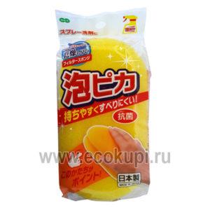 Японская губка – фильтр для ванной OH:E Awa Pika Bath Sponge купитьнасадку из антибактериального микроволокна описание отзывы доставка акции