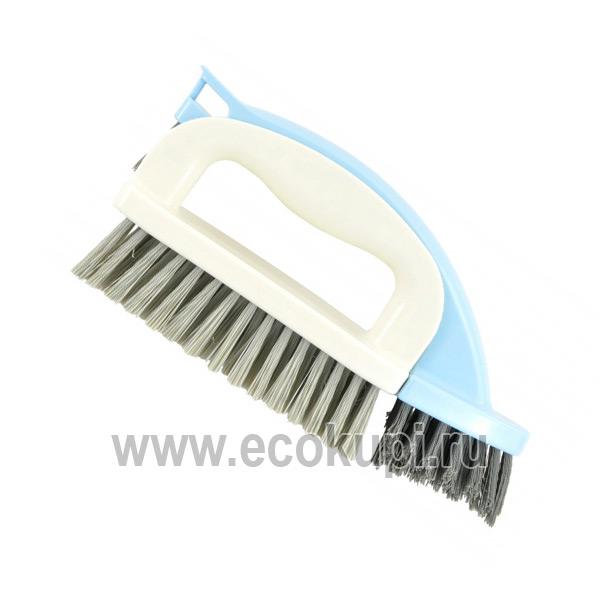 Японская щетка для ванны утюжок 2 в 1 с ручкой и съемной верхней частью OH:E 4 Waybrush чистящую насадку из микроволокна оптом и розницу
