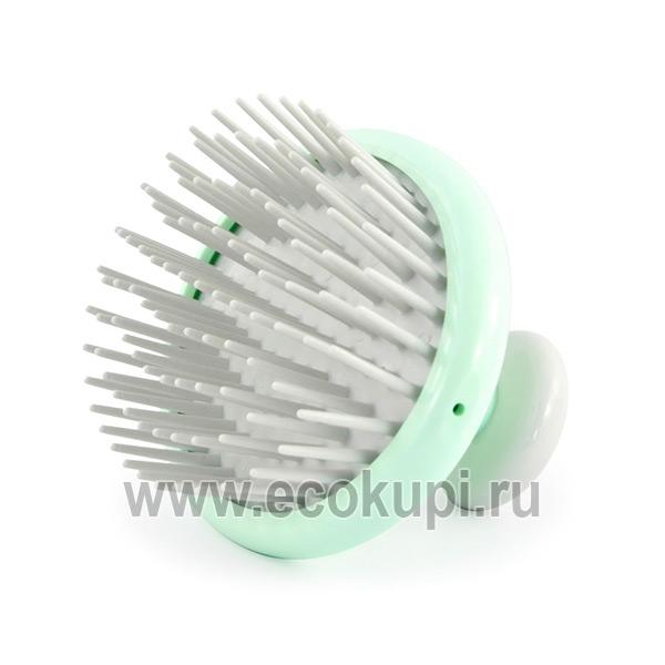 Японская щетка - массажер для кожи головы и волос с антибактериальным эффектом Vess Shampoo Brush купить шампунь выпадения окрашенных волос