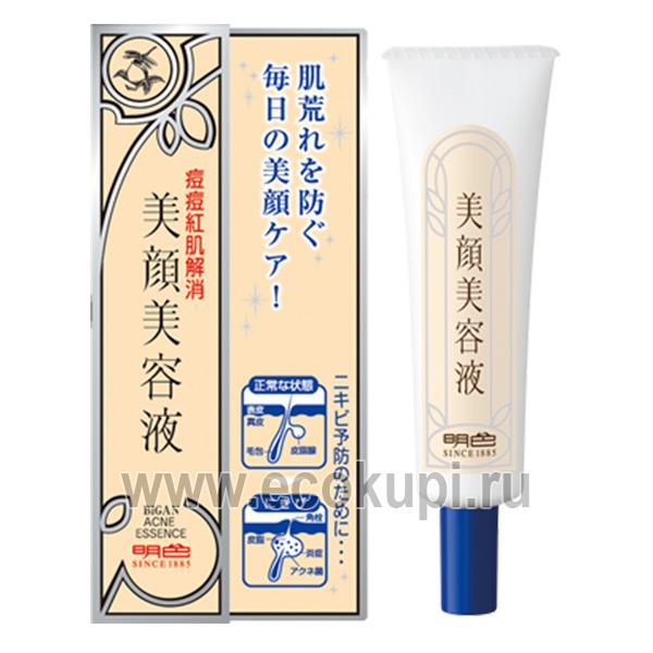 Японская эссенция для проблемной кожи лица локального применения Meishoku Bigansui Acne Essence купить крем против угрей оптом и розницу
