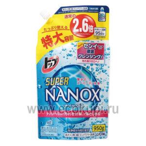 Японское жидкое средство для стирки сильнозагрязненного белья LION Top Super Nanox стиральные порошки Япония купить Москва Санкт-Петербург