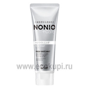 Японская профилактическая зубная паста для удаления неприятного запаха отбеливания и комплексного ухода с ароматом фруктов и мяты Nonio+Care