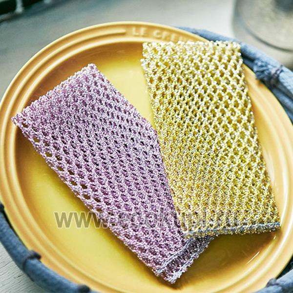 Скруббер для мытья посуды набор SungboCleamy Shiny Mesh Scrubber купить корейские средства для мытья посуды магазин хозяйственных товаров
