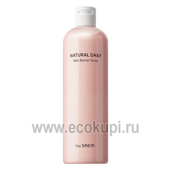 Корейский тонер для лица увлажняющий The Saem Natural Daily Skin Barrier Toner дешево купить увлажняющее молочко 3 в 1 опт и розница по акции