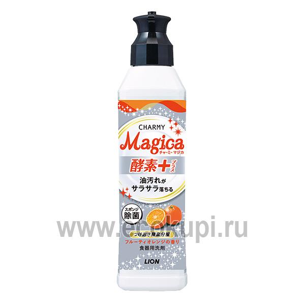 Японское средство для мытья посуды с ароматом сочного апельсина LION Charmy Magica+ купить моющие для посуды Кореи Японии Израиля Европы