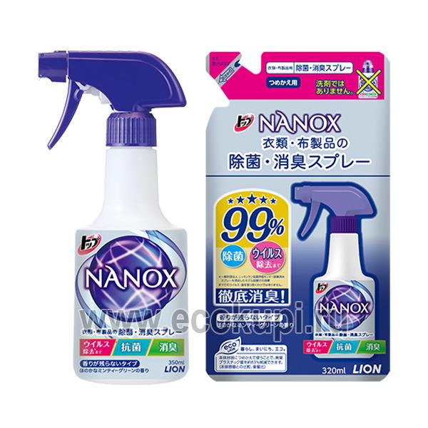 Японский спрей с антибактериальным и дезодорирующим эффектом для одежды и текстиля LION Top Super Nanox купить гигиена тела для детей