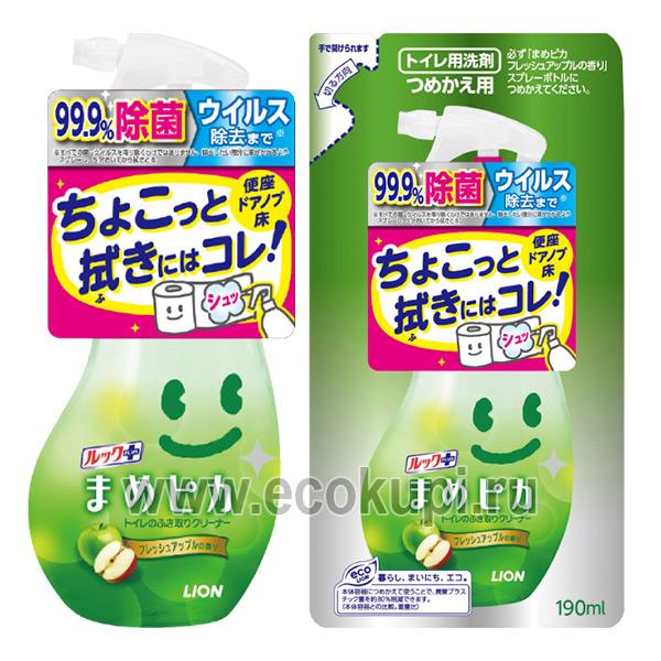 Японское чистящее средство для туалета с ароматом яблока с распылителем LION Look Mame Рiкa недорого купить абсорбирующую губку для кухни