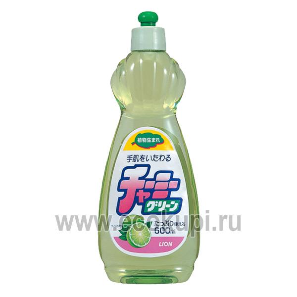 Японское средство для мытья посуды с ароматом лайма LION Charmy Green купить средства для посудомоечных машин доставка Почтой России СДЭК