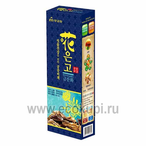 Гелевая лечебная зубная паста с экстрактом ноготков календулы Императорский рецепт с мятным вкусом зубная паста кореявосстанавливающаяэмаль
